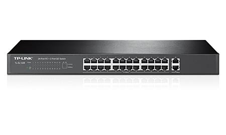 Bộ chia tín hiệu 24 cổng tốc độ 10/100mbps + 2 cổng Gigabit