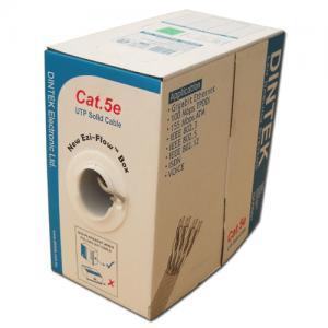 Cáp mạng Dintek CAT.5e FTP, 4 pair, 24AWG bọc nhôm chống nhiễu 4 đôi, bọc thêm lưới đồng ở ngoài, 305m/thùng Rulô gỗ (1105-03001CH)