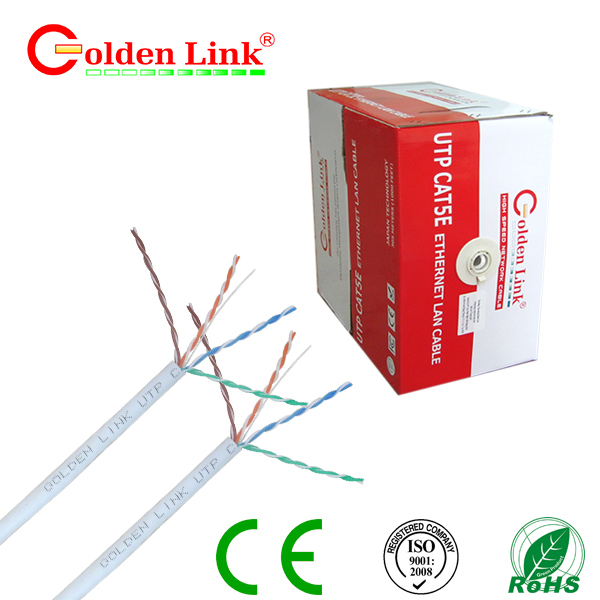 Dây cáp mạng Golden Link - 4 pair (UTP Cat 5e) 100m màu trắng