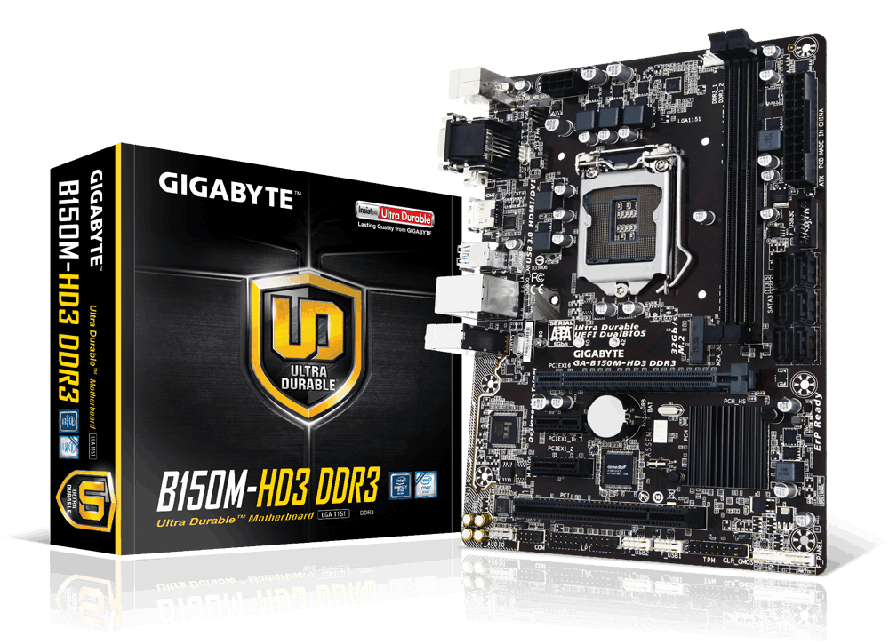Main Gigabyte GA-B150M-HD3-DDR3, Socket 1151 (GA-B150M-HD3-DDR3)