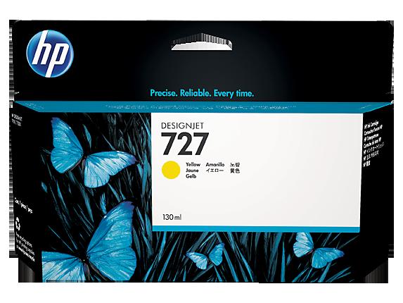 Mực in HP 727 130-ml Yellow Designjet Ink Cartridge (B3P21A)