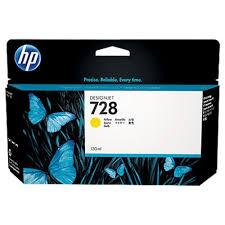 Mực in HP 728 130-ml Yellow DesignJet Ink Cartridge (F9J65A)