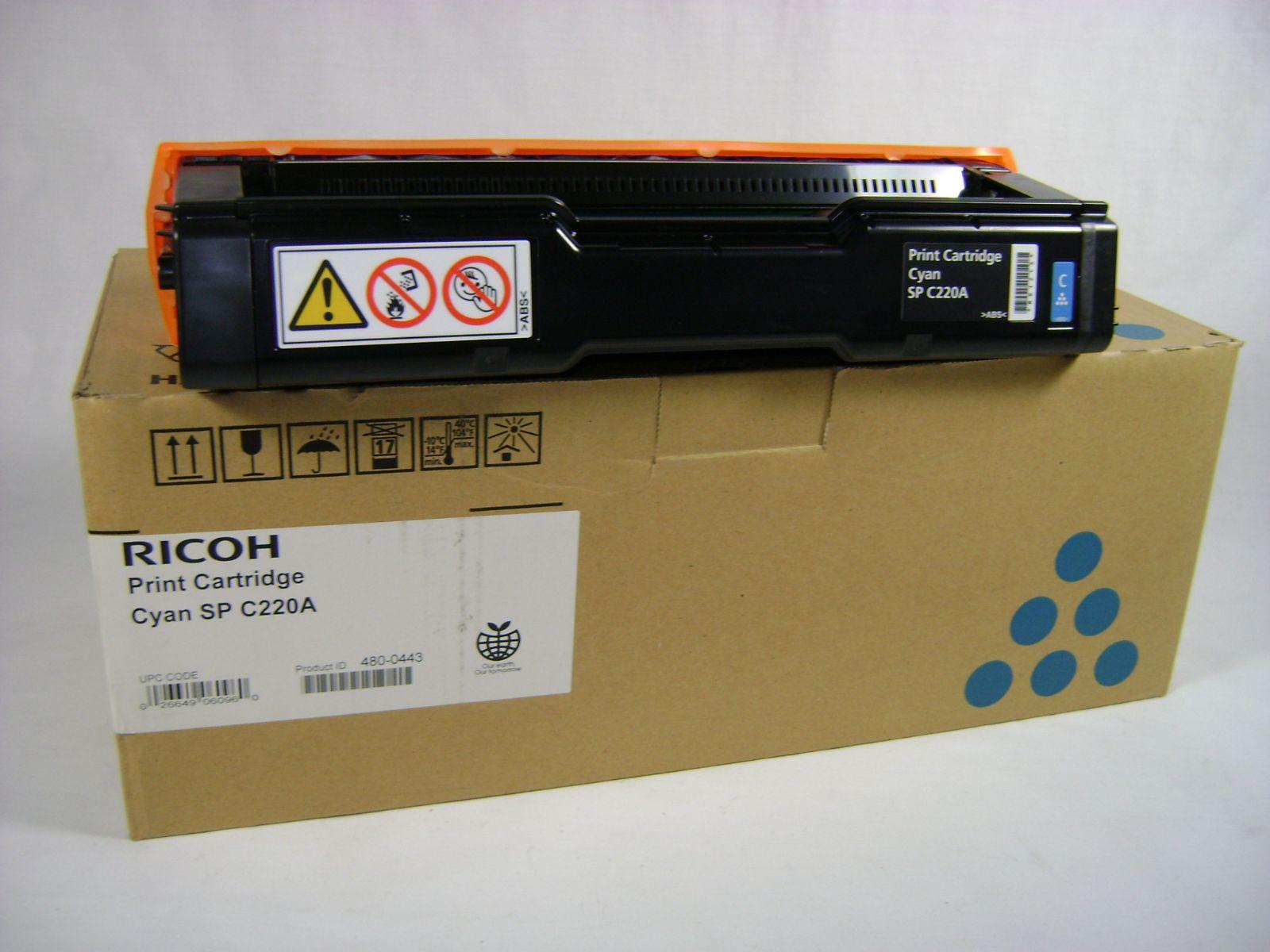 Mực in Ricoh C220S Cyan Toner Cartridge (406060)