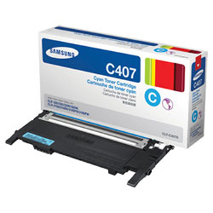 Mực in Samsung CLT-C407S Cyan Toner Cartridge