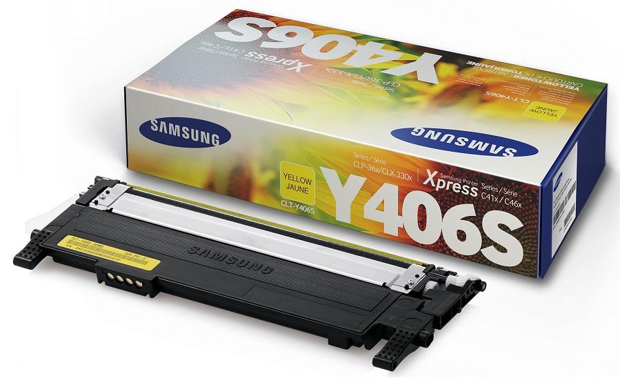 Mực in Samsung CLT Y406S/SEE, Yellow Toner Cartridge