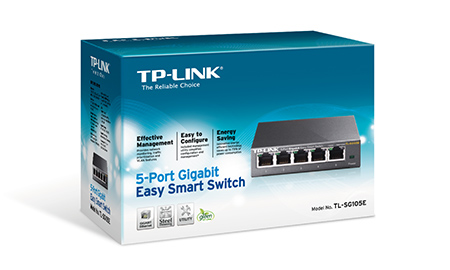 Switch TP-Link TL-SG105E, 5-Port Gigabit Easy Smart Switch