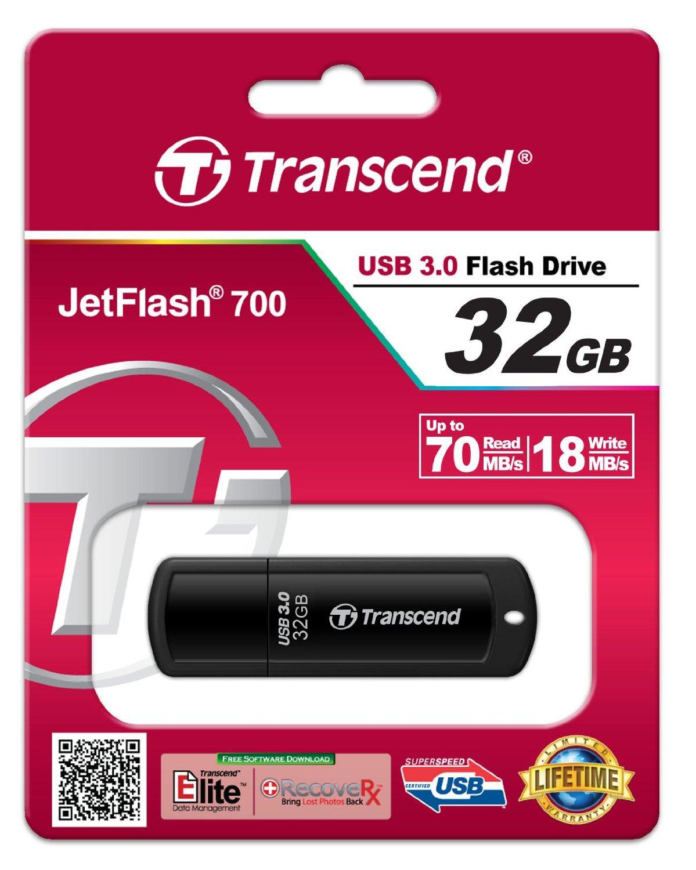 USB 32GB Transcend JetFlash 700 USB 3.0 Flash Drive (TS32GJF700)