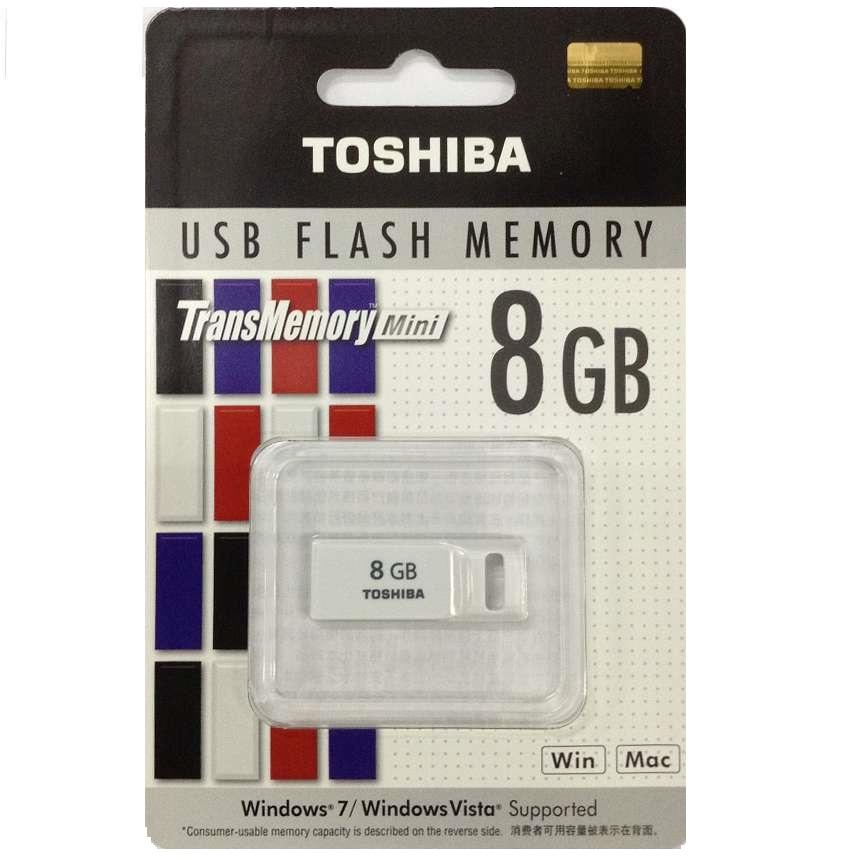 USB 8GB Toshiba Suruga Mini USB Flash Drive 8GB – White (THNU08ENSPUR)